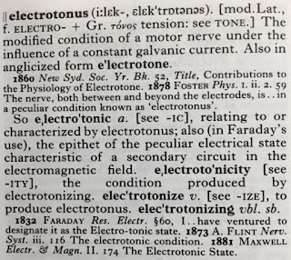 The entry for electrotonus in the Oxford English Dictionary.