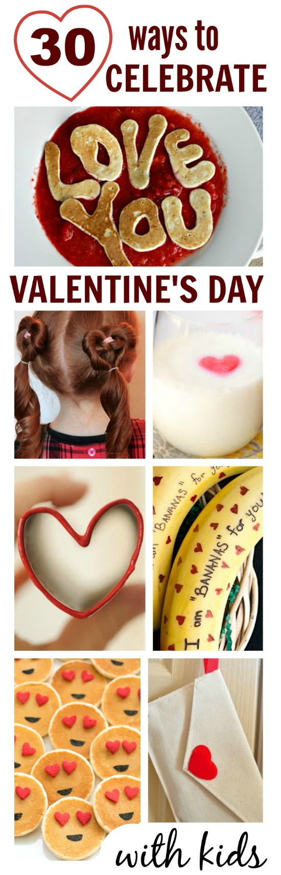 30 SIMPLE WAYS TO CELEBRATE VALENTINE'S DAY WITH KIDS.  Can I be a kid again please?  These are so cool! #valentinesdayforkids #celebratingvalentinesdaywithkids #valentinescrafts
