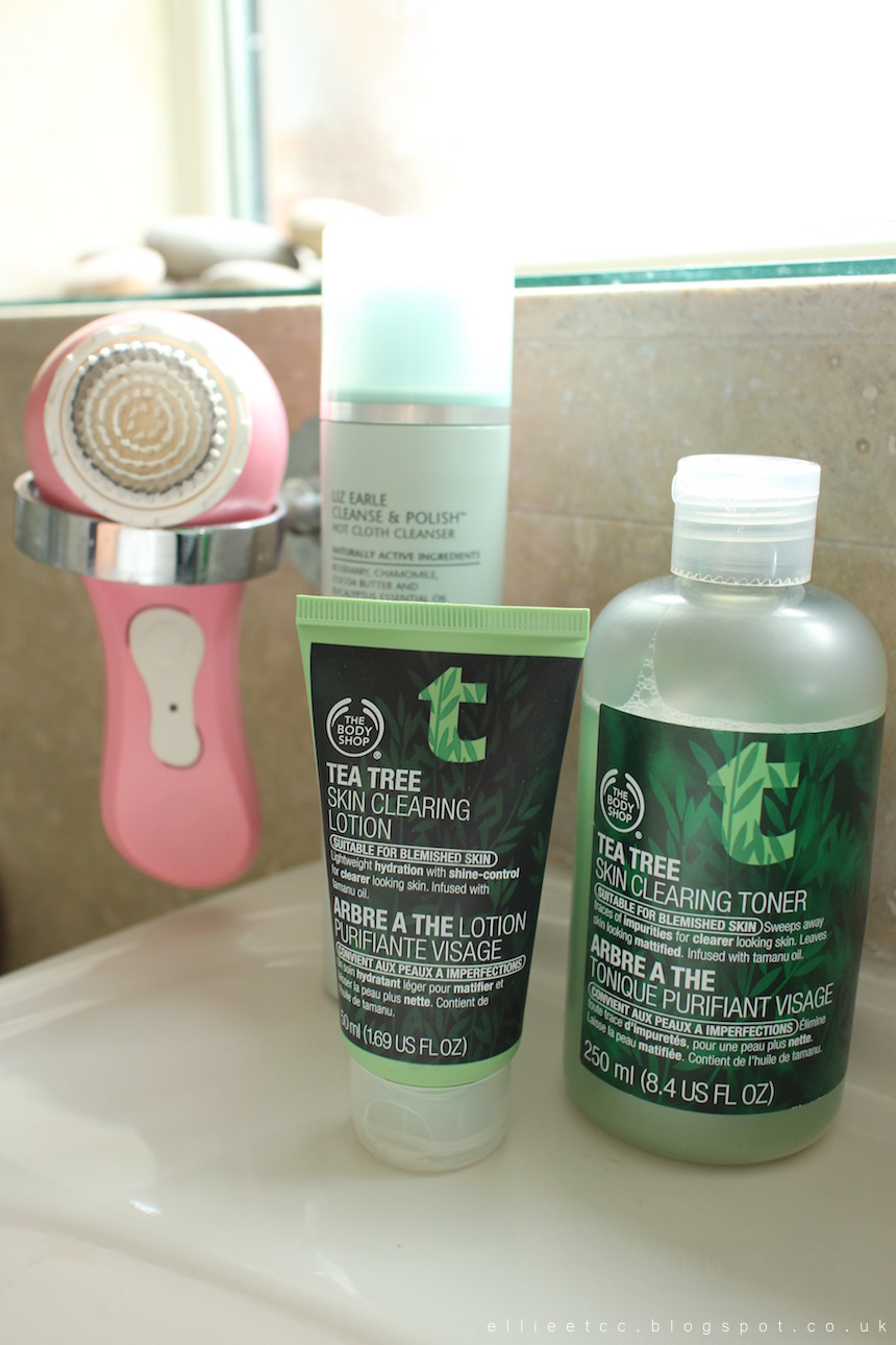 beauty, cleansing, cleansing brush, end of the day, Liz Earle, make up, skin, skincare, The Body Shop, tea tree, Magnitone, Magnitone BareFaced!, sponsored, collaboration,