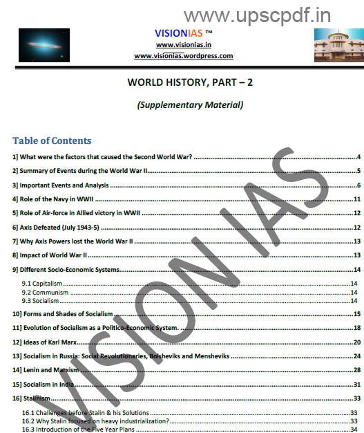 World history vision ias notes