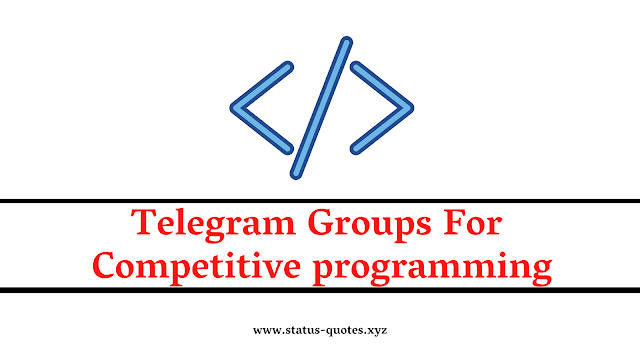 126+ Telegram Group For Competitive Programming