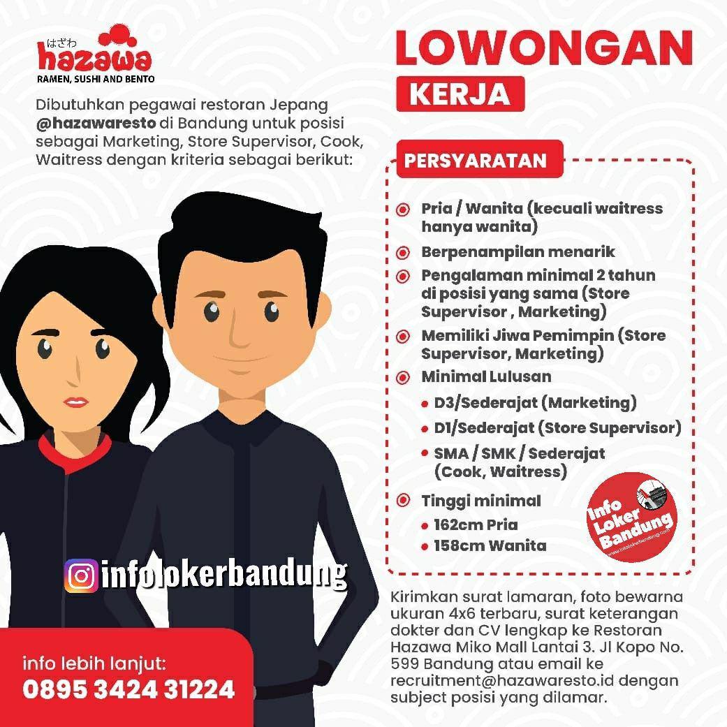 Lowongan Kerja Hazawa Resto Bandung September 2019