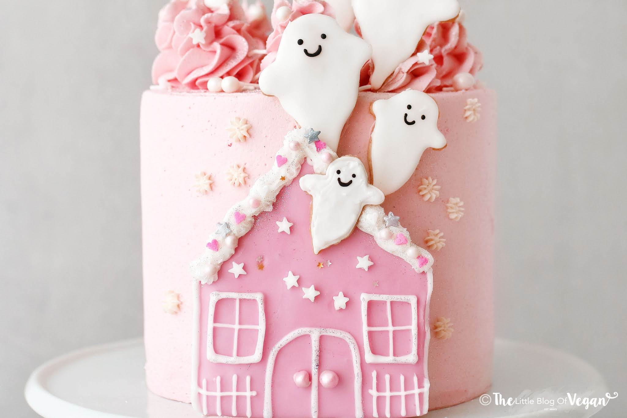 Vegan Strawberry Ghost Cake recipe