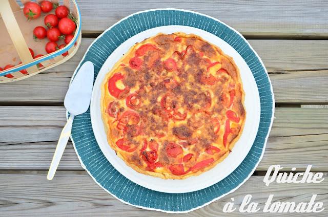Quiche à la tomate à la provençale