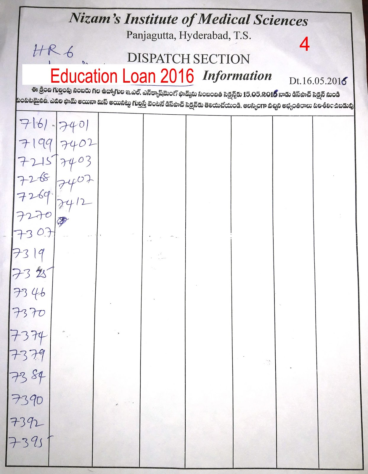 Nimsgosc Posted By Srihari Rao On Thursday January 6 2011 5comments The List Of Employees Who Applied For El Encashment And Education Advance Year 2016 If Anybodys Application Found Misplaced Please Inform