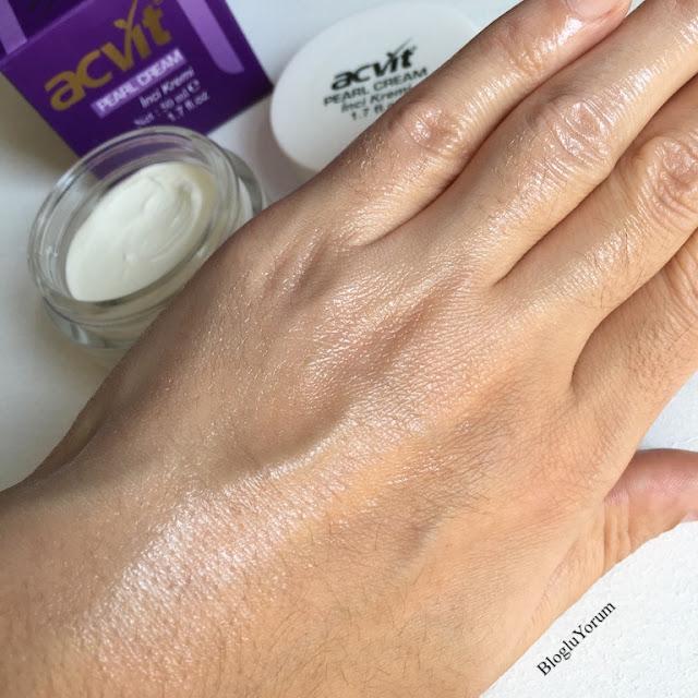 acvit cilt tonu renk açıcı inci kremi pearl cream incelemesi 3