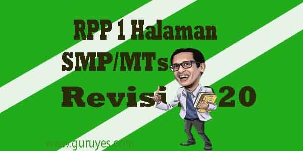 RPP 1 Lembar PAI SMP Kelas 7  Semester 2