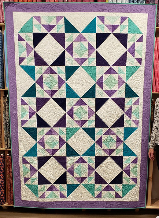 Criss-Cross Quilt Free Pattern designed by Donna Jordan for Jordan Fabrics