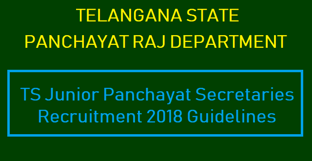 TS Jobs, TS Recruitment, TS Notifications, TS Jr Panchayat Secretaries Recruitment, Junior Panchayat Secretaries Jobs, Commissioner, Panchayat Raj & Rural Employment