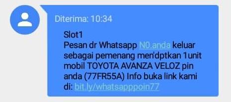 Waspada Penipuan Pemenang Dari Whatsapp Berhadiah Mobil Dan Motor