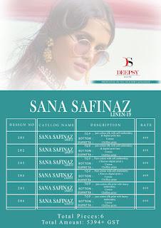 Deepsy Sana Deepsy Sana Safinaz Linen 19 Pakistani Suits WholesalerSafinaz Linen 19 Pakistani Suits Wholesaler