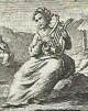 Citarista, partic. di incisione di Dall'Acqua