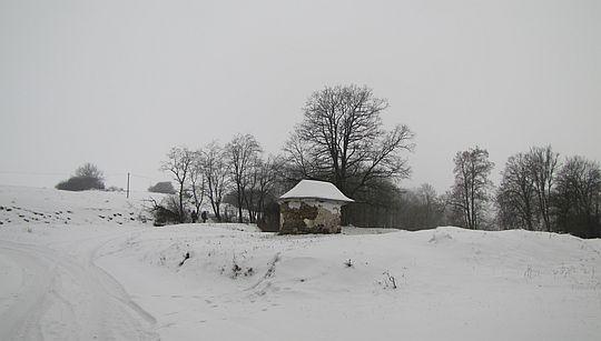 Czarne, domkowa kapliczka z XIX wieku.