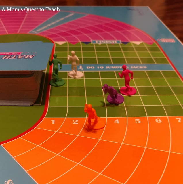 Runners on Math Sprint board game