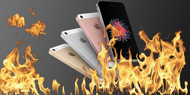 Illustration of iPhone hot fast