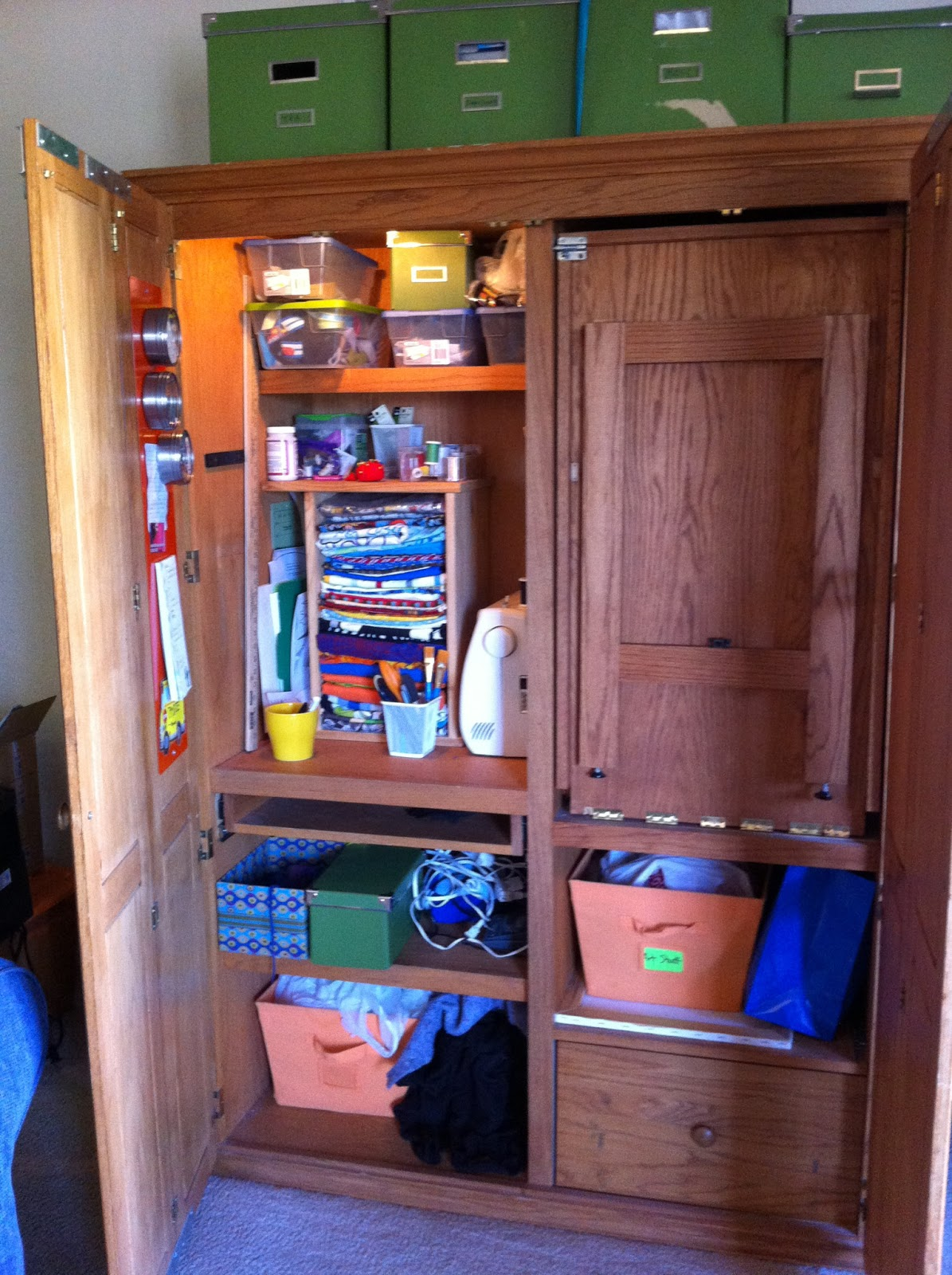 Between the Rabbit's Ears: My Sewing/Craft Armoire