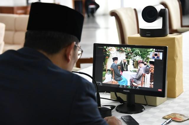 Nikah Daring, Ridwan Kamil Berikan Tausiah Pernikahan di Masa Pandemi