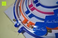 Verpackung Plastik: 5 Teiliges Handi-Stitch Stickrahmen und Kreuzstich Set– 12,7 bis 28 cm ( Größen (28cm, 24cm, 20,5cm, 16,5cm & 12,7cm) – Verschiedene Farben