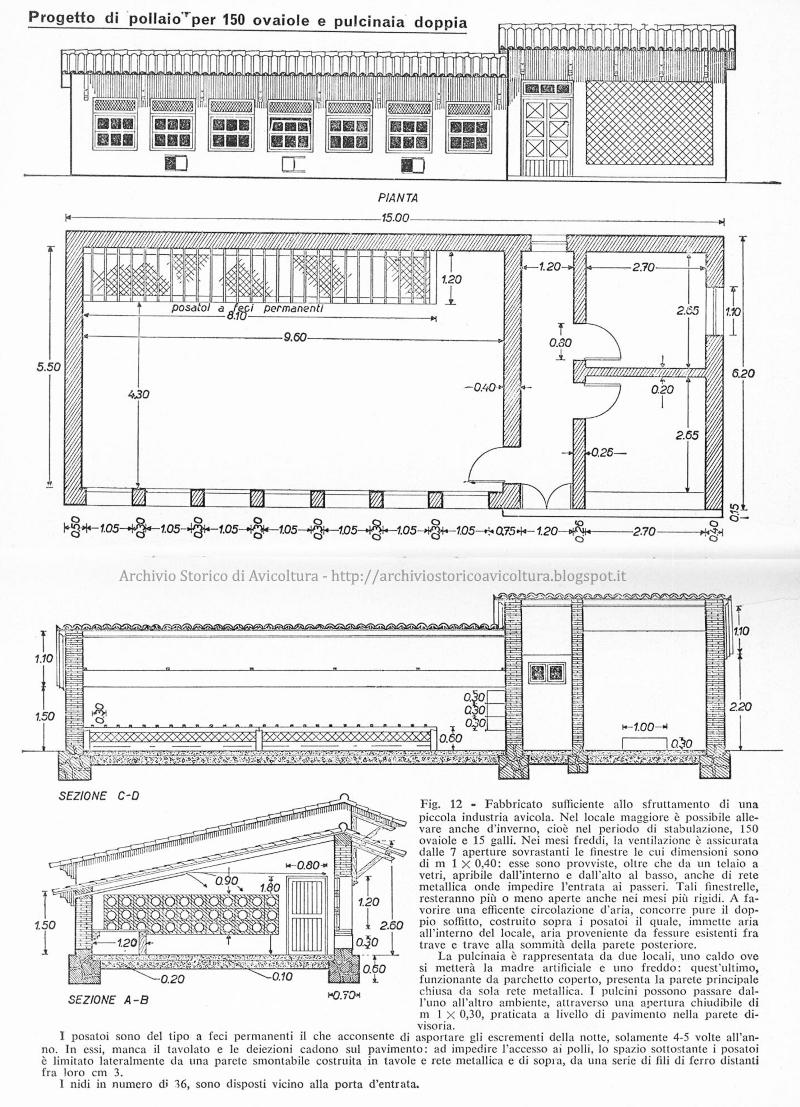 Archivio Storico D 39 Avicoltura Pollaio Per 150 Ovaiole