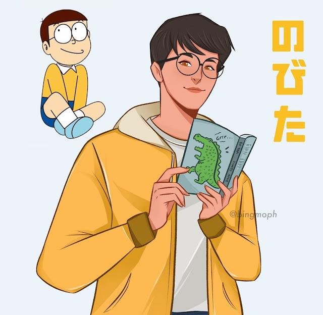 Pria Indonesia Ini Ubah Karakter Doraemon Terlihat seperti Kartun ala Korea