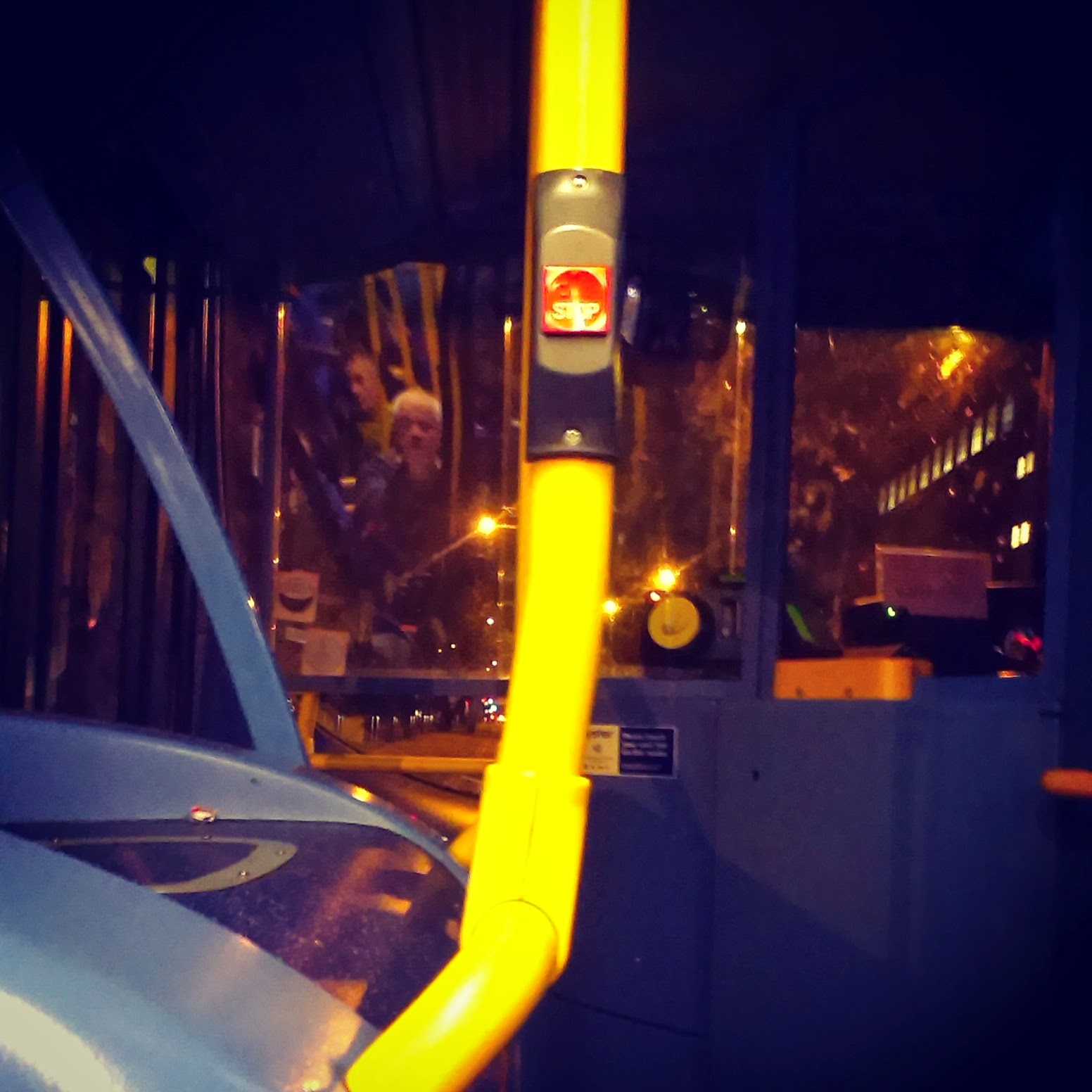 5pm - on a bus