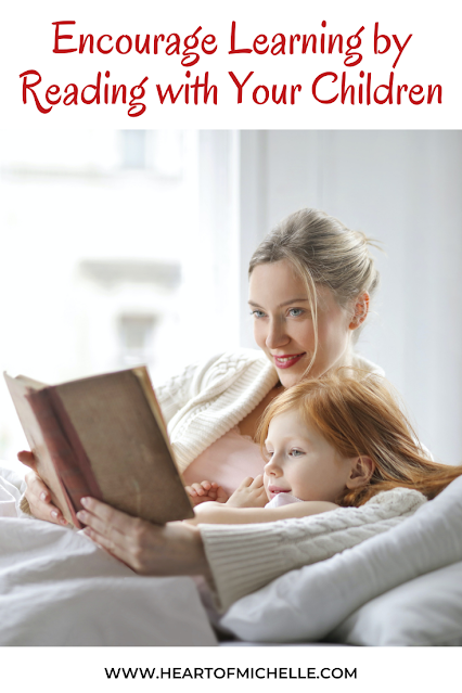 mother reading to child