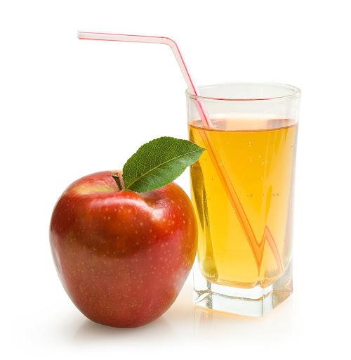 Method of action of apple juice