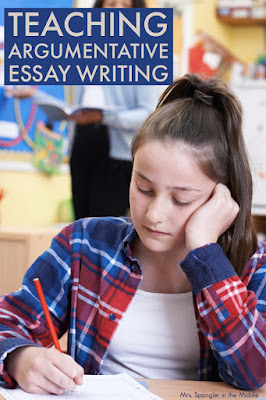 Get some new ideas for teaching Argumentative Essay writing to your middle school students!  #strategies #ideas #tips