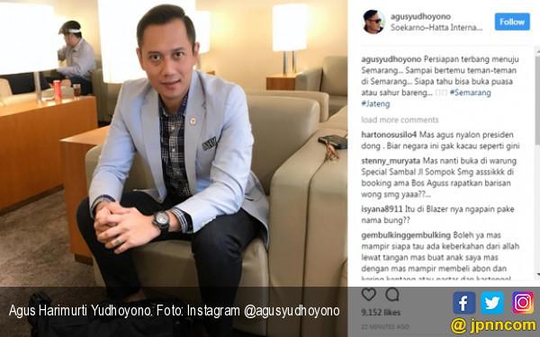 Tidak Tertidur Seperti Bu Susi, Agus Yudhoyono Sampaikan Pesan dari Bandara