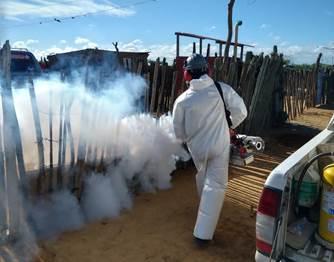 hoyennoticia.com, Fumigados 19 barrios en Uribia