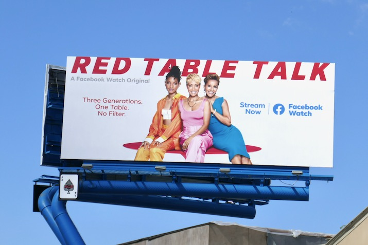 Red Table Talk season 3 Facebook Watch billboard