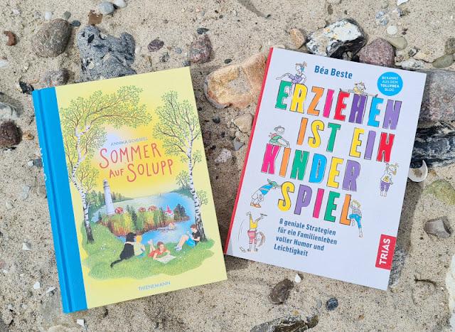 """Für mehr Leichtigkeit im Familienleben! Zwei Buchtipps für Kinder und Eltern. """"Sommer auf Solupp"""" & """"Erziehung ist ein Kinderspiel"""": Zwei Buch-Tipps stelle ich Euch auf Küstenkidsunterwegs zum Internationalen Kindertag vor."""
