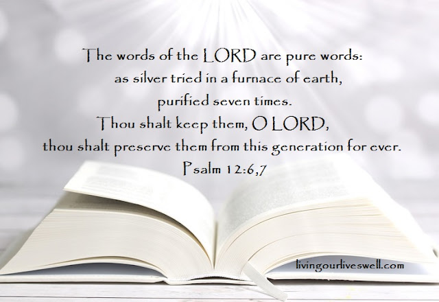 Psalm 12:6, 7 The words of the LORD are pure words: as silver tried in a furnace of earth, purified seven times.