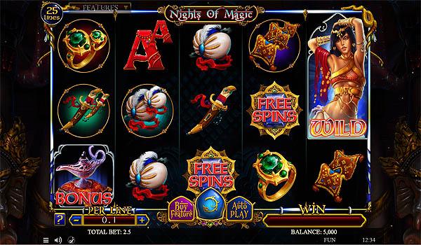Main Gratis Slot Indonesia - Nights of Magic Spinomenal