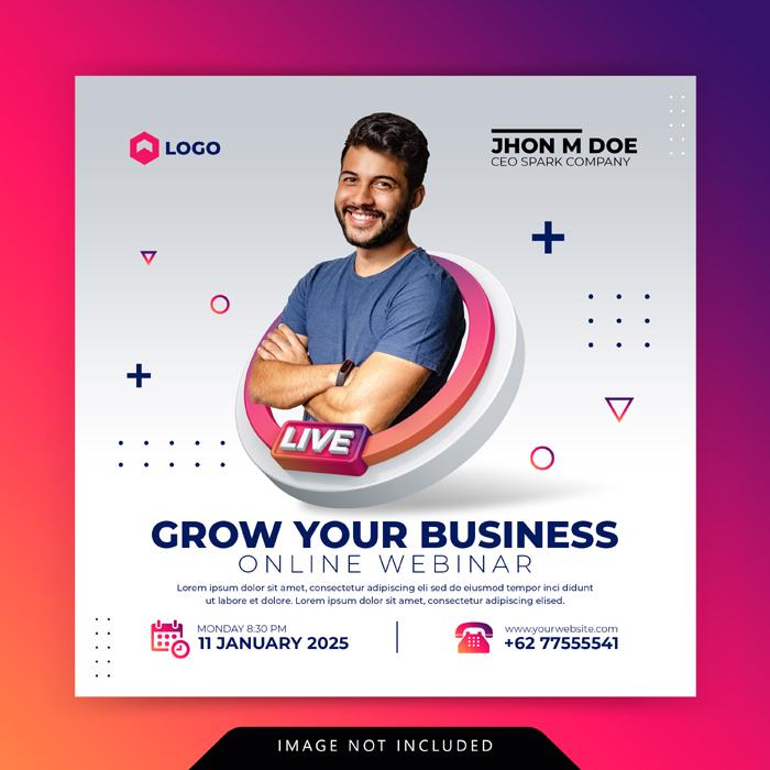 Creative Concept Digital Marketing Business Promotion Social