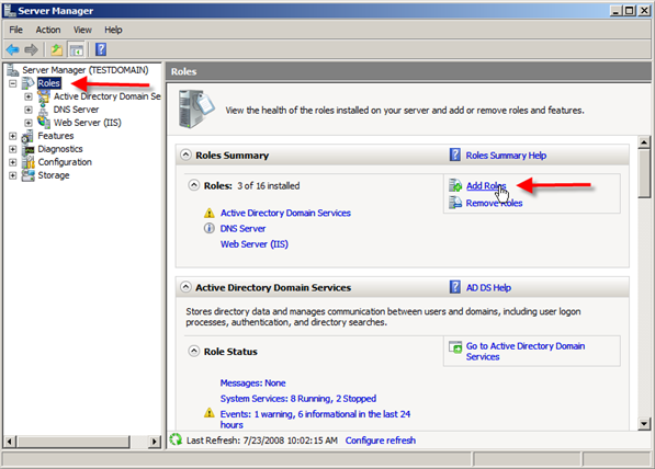 Installing Distributed File System in Pictures, Install DFS Role on Windows server 2008,Windows Server 2008