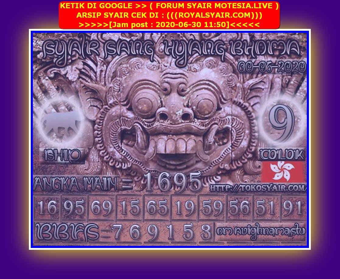 Kode syair Hongkong Selasa 30 Juni 2020 229