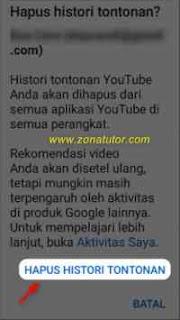 Cara Hapus Riwayat Penelusuran Youtube Lewat Hp