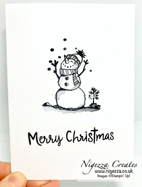 Nigezza Creates With Stampin' Up! Snowman Season #simplestamping