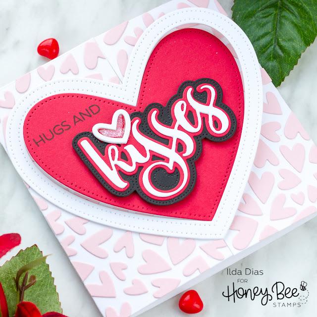 Interlocking Heart Gatefold Card | Day 2 Sneak Peek | Honey Bee Stamps BEE Mine Release by ilovedoingallthingscrafty.com