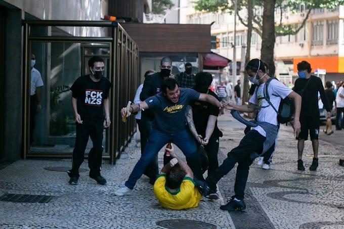 Atos a favor e contra Bolsonaro terminam em confusão no Rio