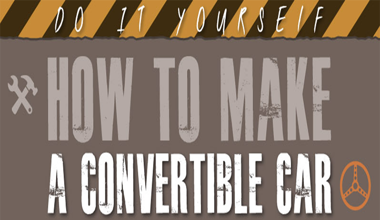 How to Make a Convertible Car #infographic