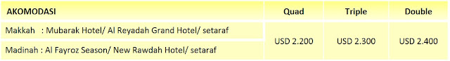 biaya paket umroh awal ramadhan 2015