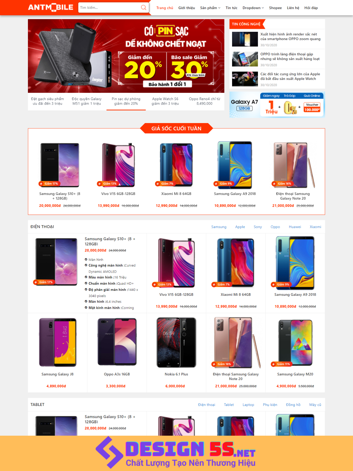 Theme blogspot bán điện thoại máy tính VSM77