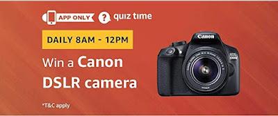 Image result for Amazon Quiz Win Canon EOS DSLR Camera