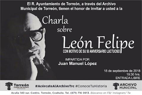 NOTICIAS El Archivo Municipal presenta charla sobre el poeta León Felipe