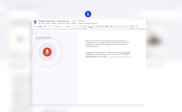 cara mengetik dengan suara google dokumen