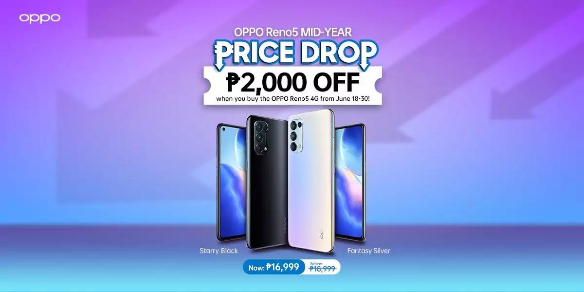 OPPO Reno5 4G Price Drop