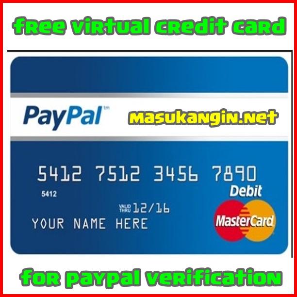 free virtual credit card for paypal verification - Virtual Visa Card Load With Paypal