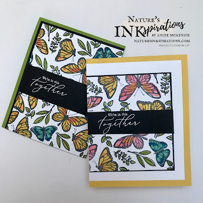By Angie McKenzie for Stampin' Dreams Blog Hop; Click READ or VISIT to go to my blog for details! Featuring the Floating & Fluttering Bundle and the Sale-A-Bration Heal Your Heart Stamp Set by Stampin' Up!; #encouragementcards #stamping #floatingandflutteringbundle #healyourheartstampset  #januaryjune2021minicatalog #janfeb2021saleabration #naturesinkspirations #makingotherssmileonecreationatatime #heatembossing #cardtechniques #stampinup #handmadecards